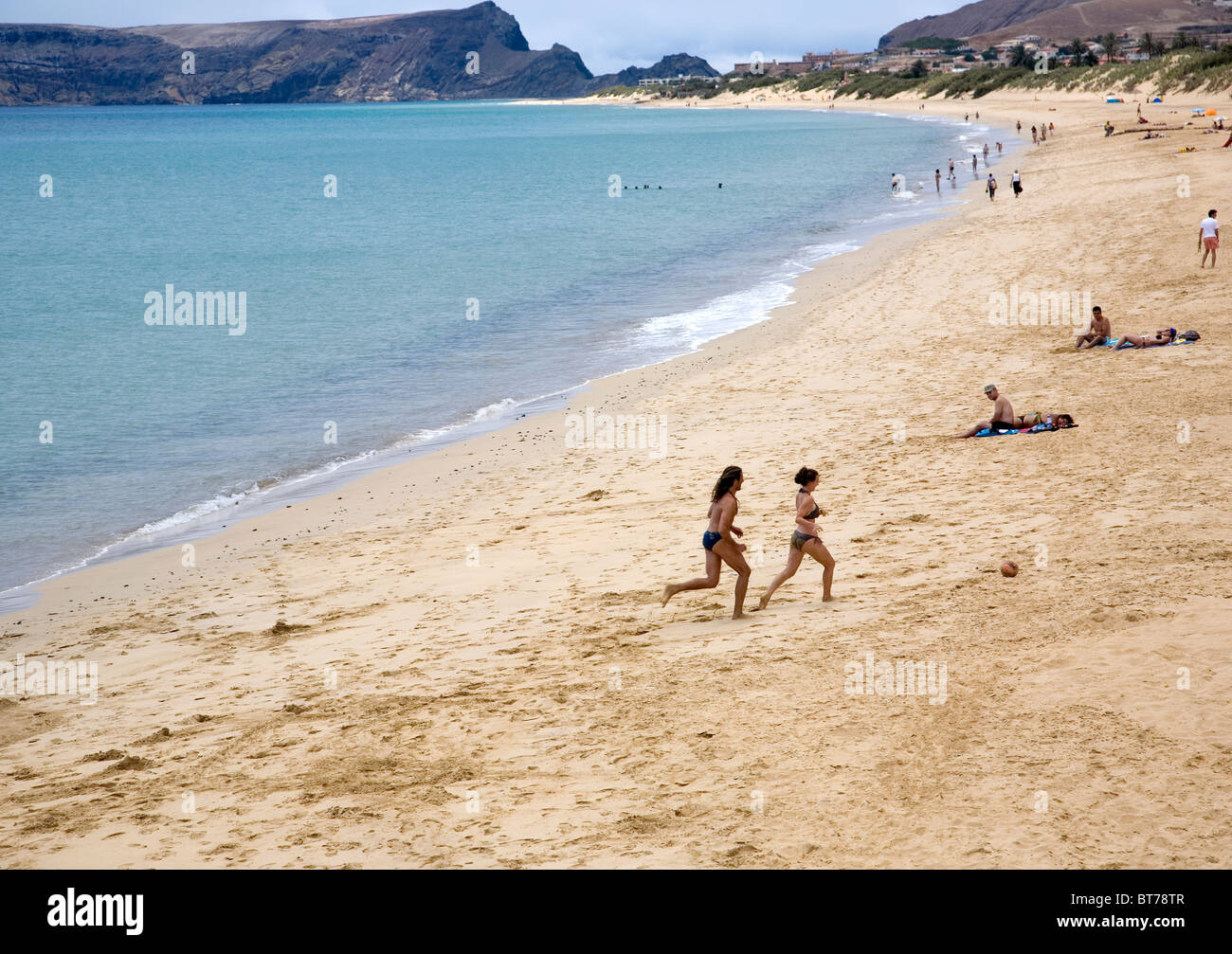 Beach at Vila Baleira - Stock Image