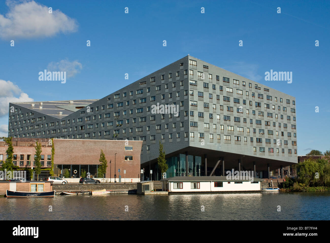 Sphinx or Whale by Frits van Dongen, modern architecture in Amsterdam Eastern Docklands - Stock Image
