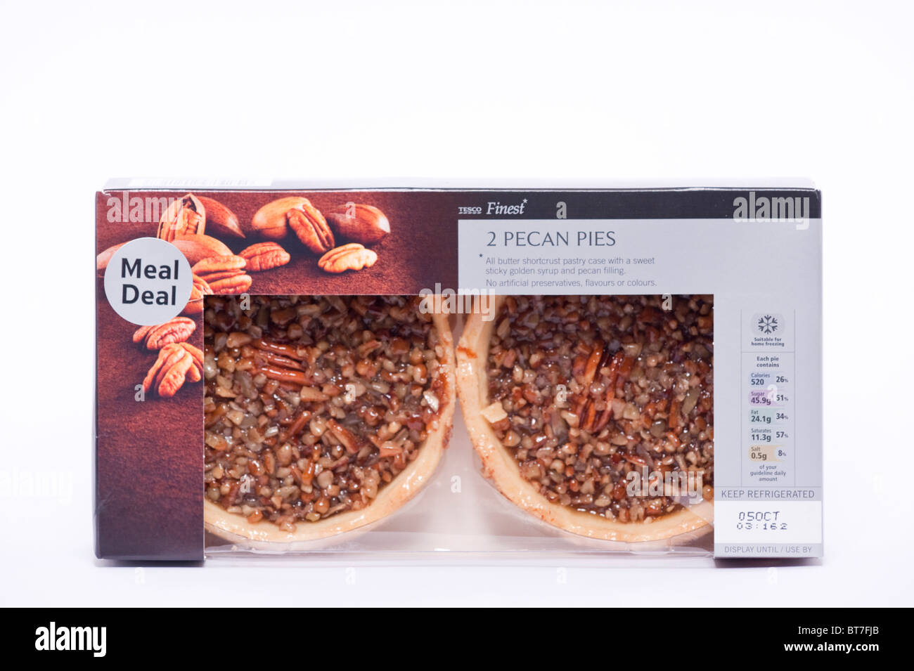 Tesco cut out stock images pictures alamy a close up photo of a pack of 2 tesco finest pecan pies against a white solutioingenieria Images
