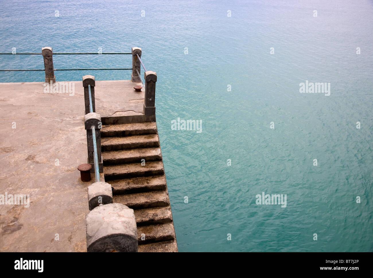 Porto Santo Wharf Steps - Stock Image
