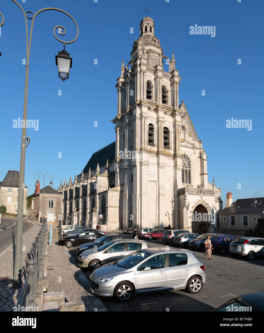 Cathedral of Saint Louis in Blois, France. - Stock Image