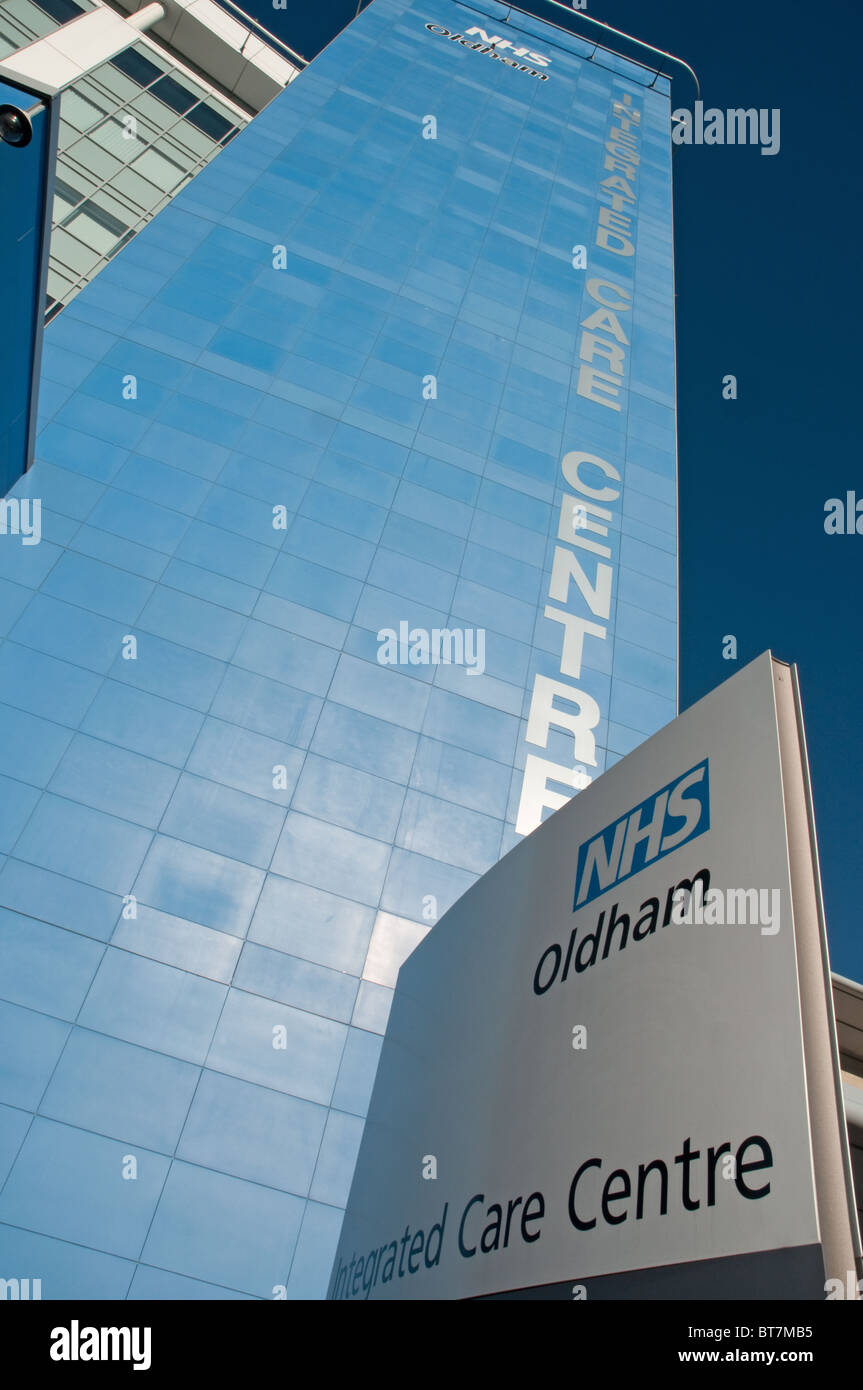 Oldham Intergrated Care Centre, the £20 million NHS facility opened in 2009.Largest health care centre in the - Stock Image