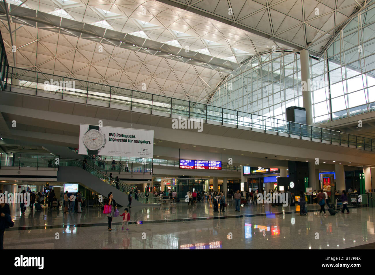 Hong Kong International Airport is the main airport in Hong Kong. It is colloquially known as Chek Lap Kok inside Stock Photo
