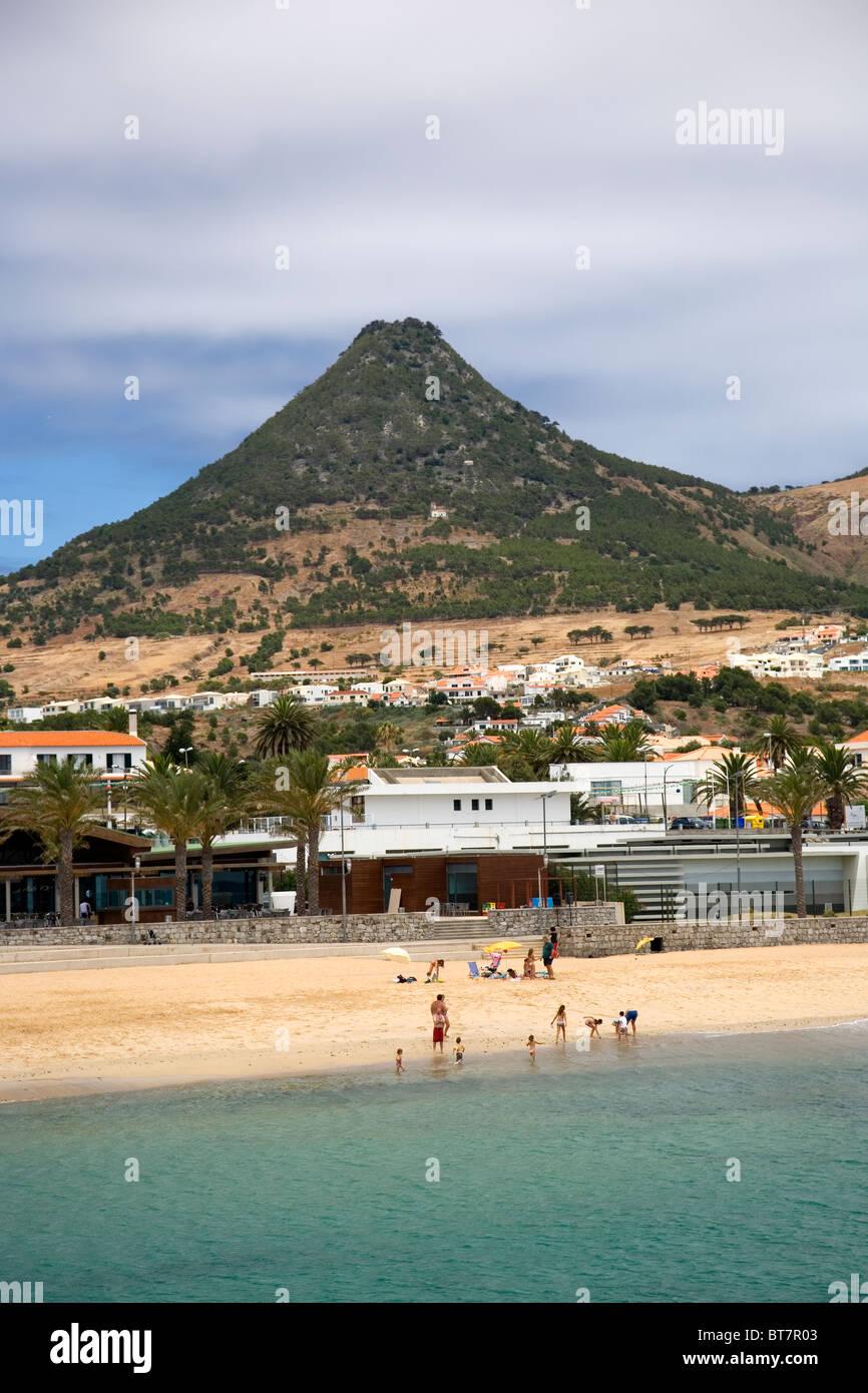 Vila Baleira beach in Porto Santo - Stock Image