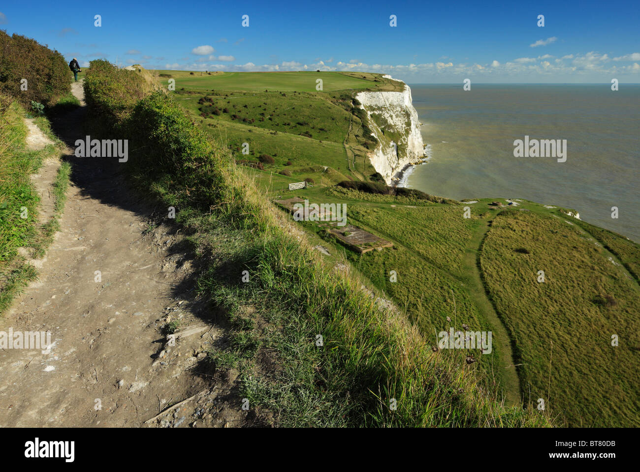 The White Cliffs of Dover. - Stock Image