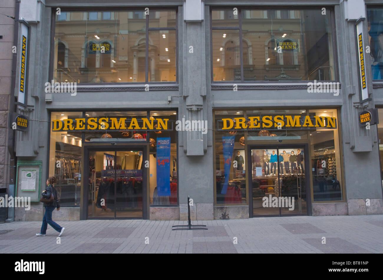 Dressman men's clothing store Aleksanterinkatu street central Helsinki Finland Europe - Stock Image