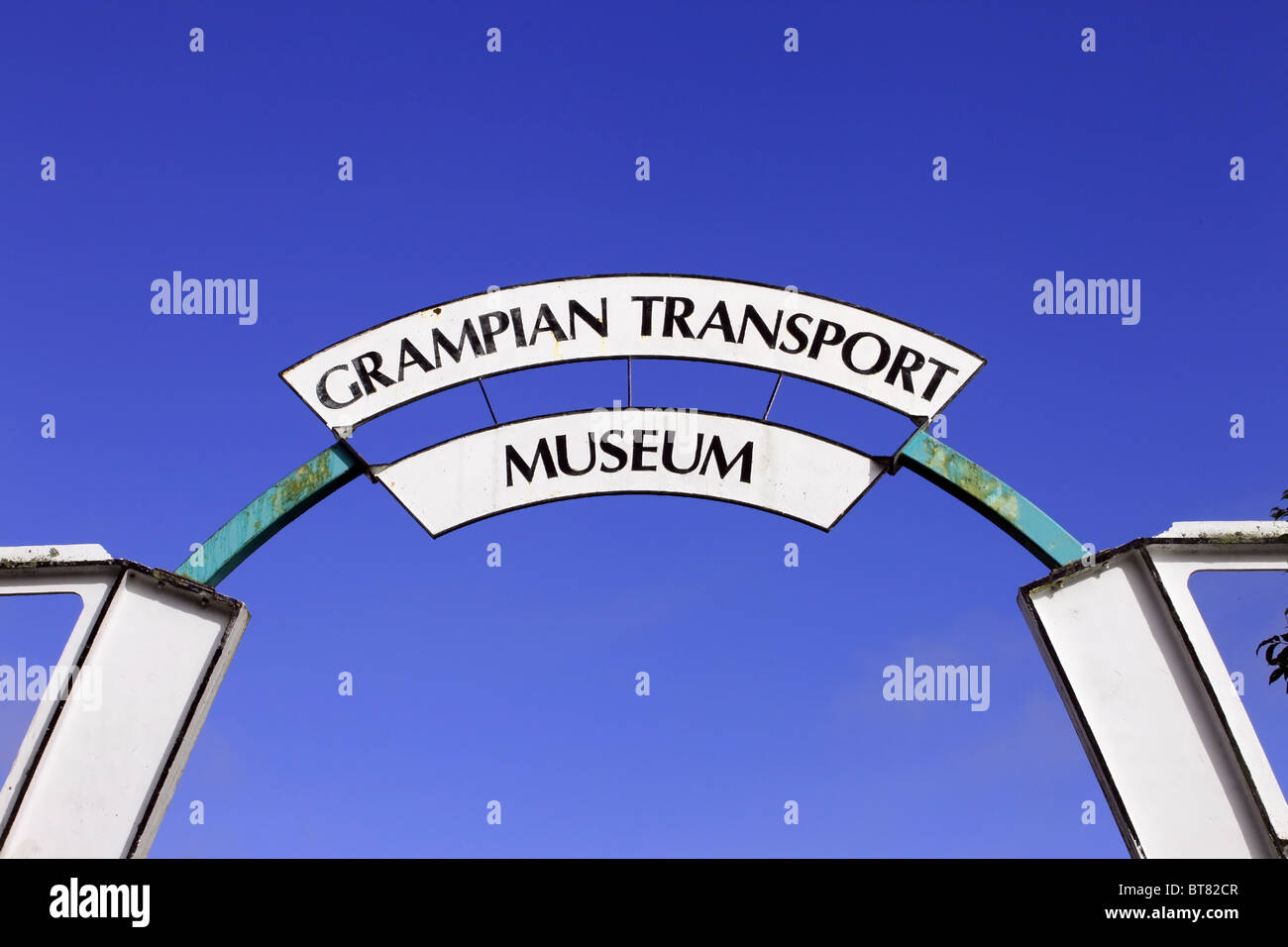 Grampian Transport Museum in the town of Alford in Aberdeenshire, Scotland, UK - Stock Image