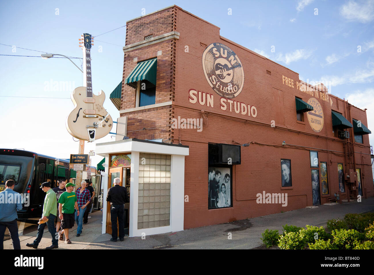 Exterior and main entrance of the Sun Studio, Memphis, Tn, - Stock Image