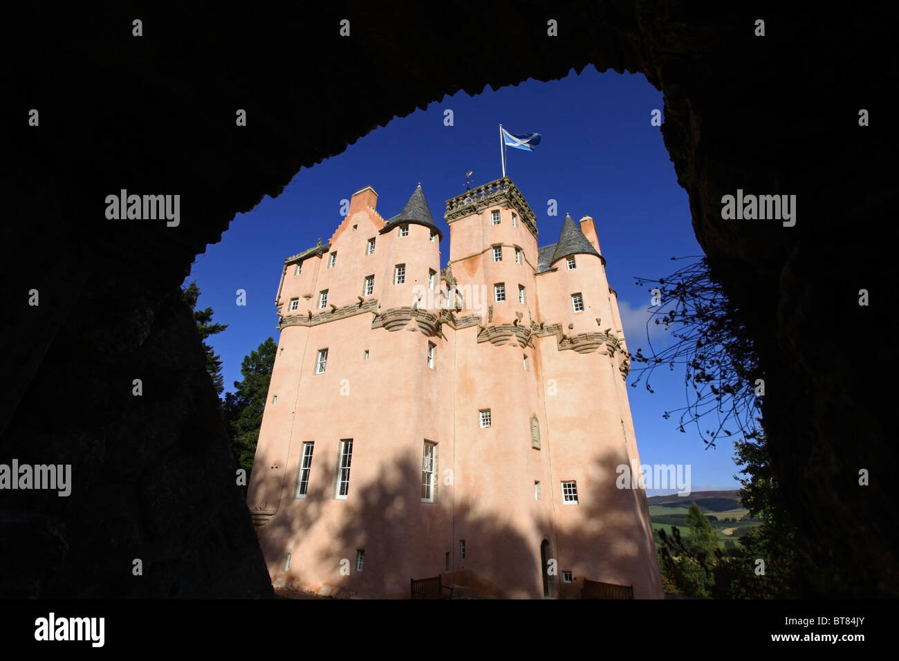 Newly refurbished Craigievar Castle near Alford, Aberdeenshire, Scotland, UK - Stock Image