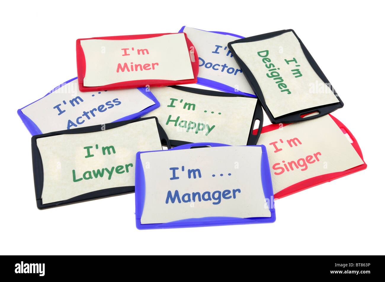 Professional identification cards - Stock Image