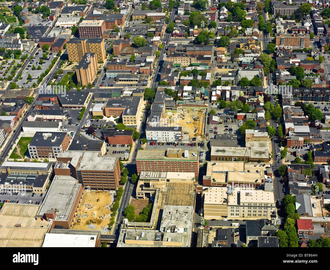 Lancaster City Aerial View