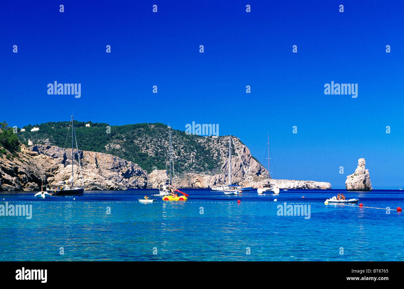 Cost near Sant Miguel, Ibiza, Balearic Islands, Spain - Stock Image
