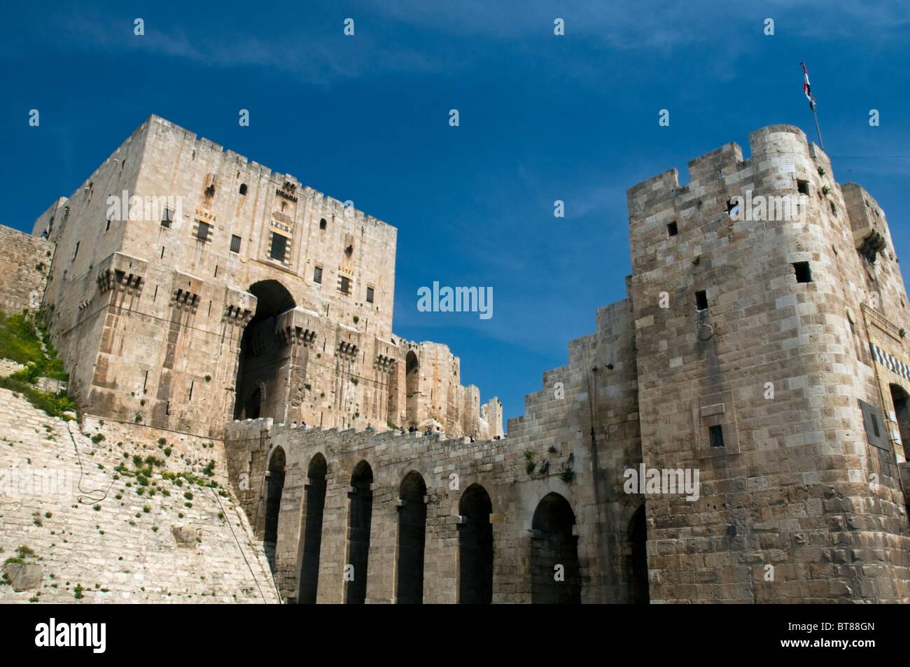 Aleppo Castle Syria - Stock Image