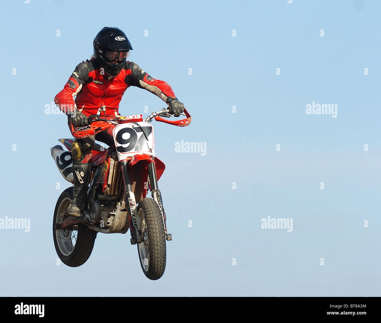 THE SUPERCROSS BRITISH CHAMPIONSHIP AT LYDD RACEWAY - Stock Image