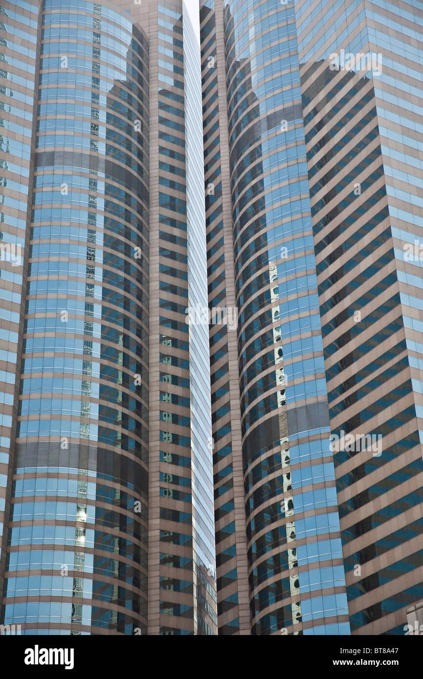 Modern Sky Scrapers In Hong Kong - Stock Image