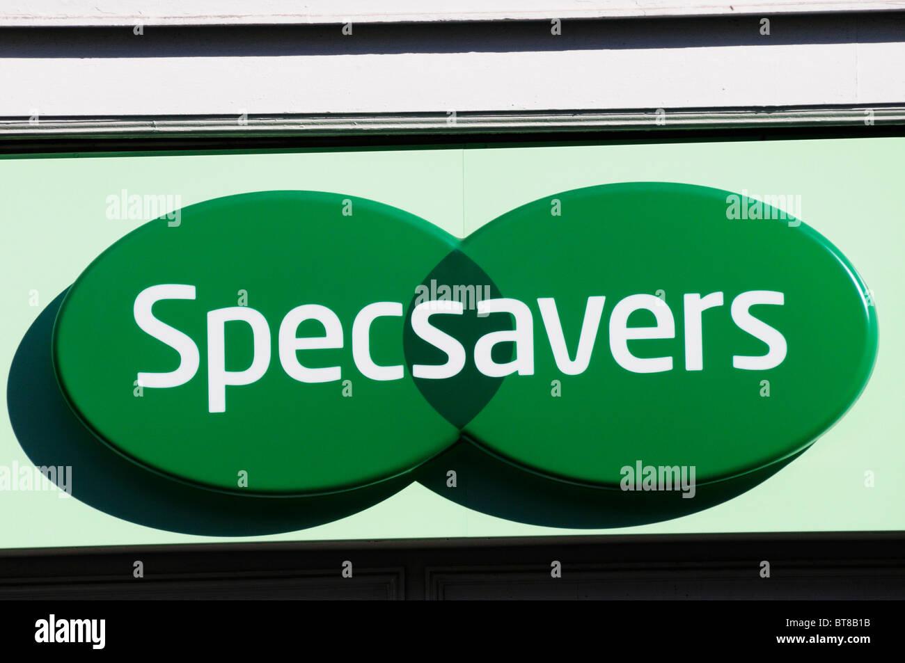 Specsavers Opticians sign logo, London, England, UK Stock Photo