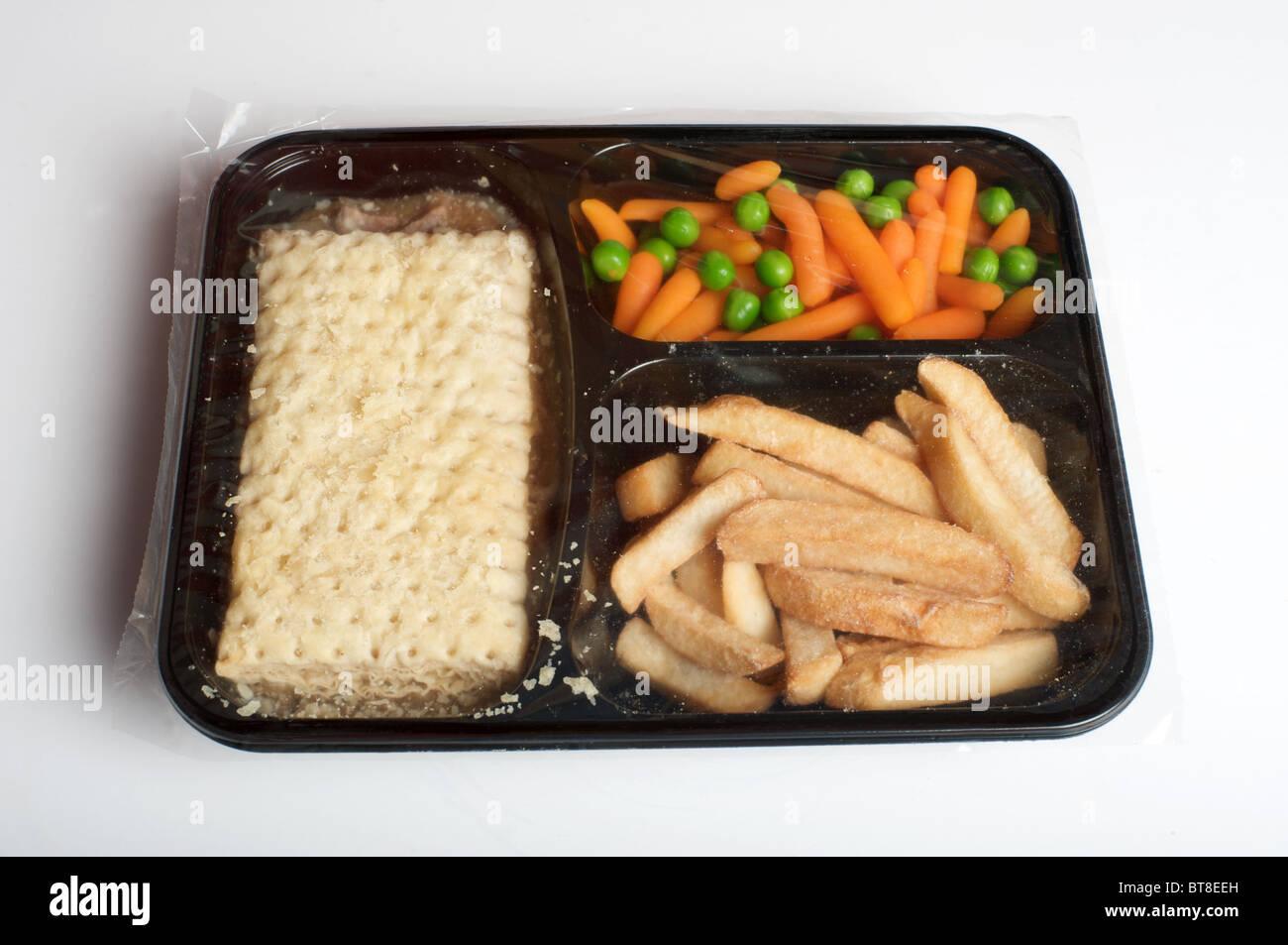 Frozen steak pie ready meal - Stock Image