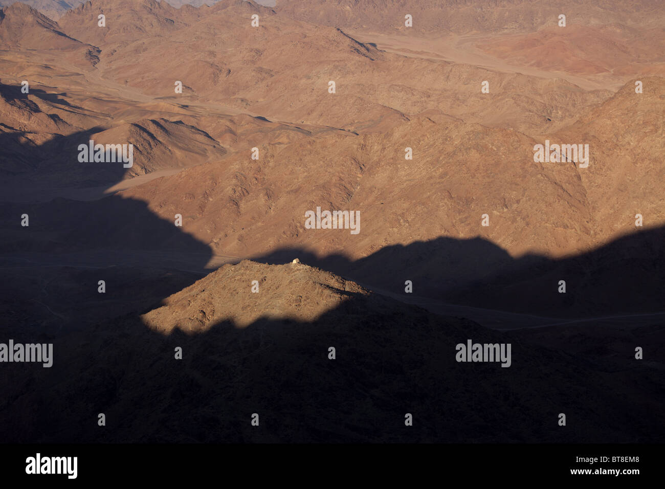 Djebel Musa or Mount Sinai near Saint Katherine or El Miga village, Sinai, Egypt, Africa, - Stock Image