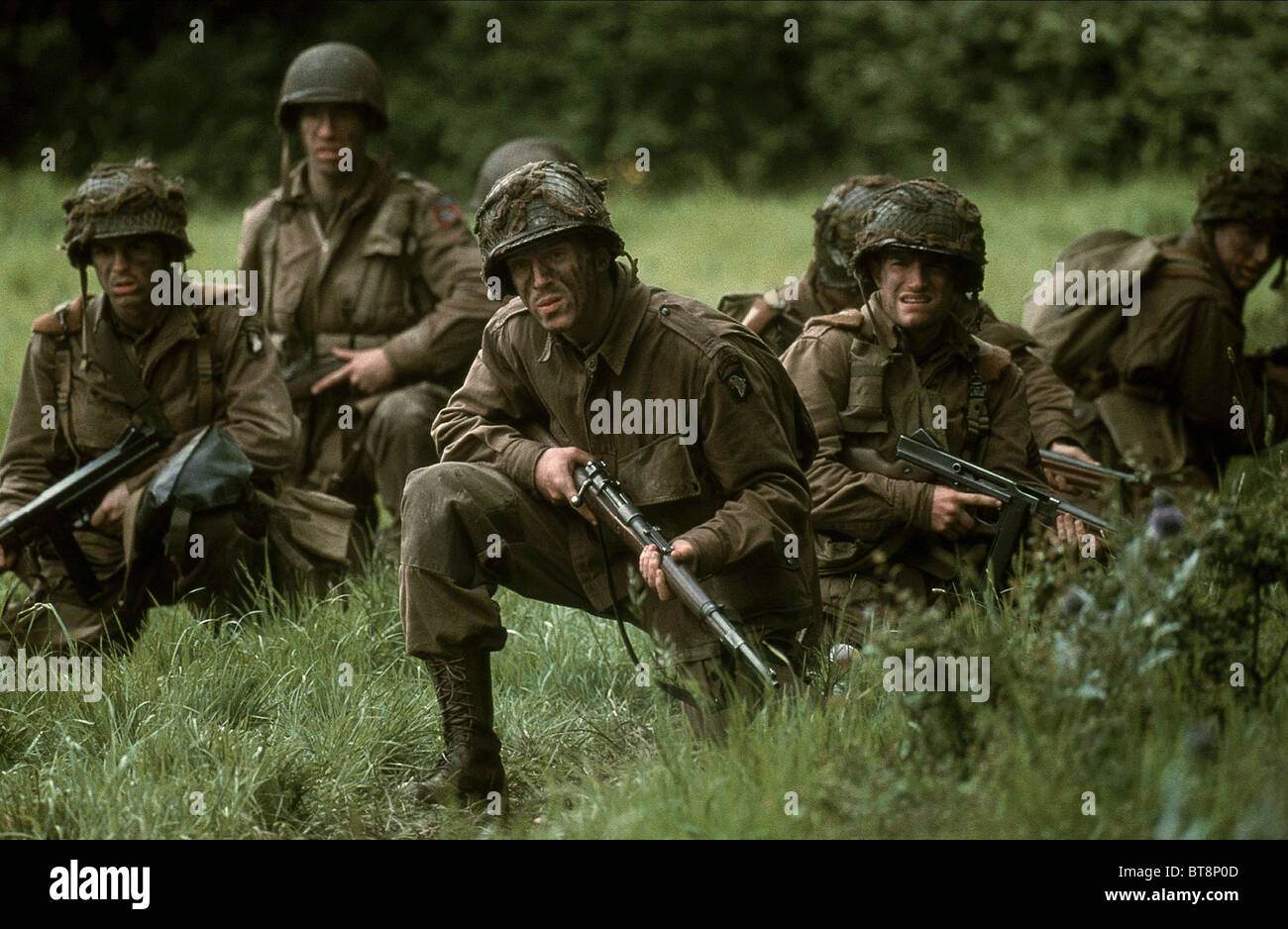 DAMIAN LEWIS FRANK JOHN HUGHES BAND OF BROTHERS (2001) - Stock Image