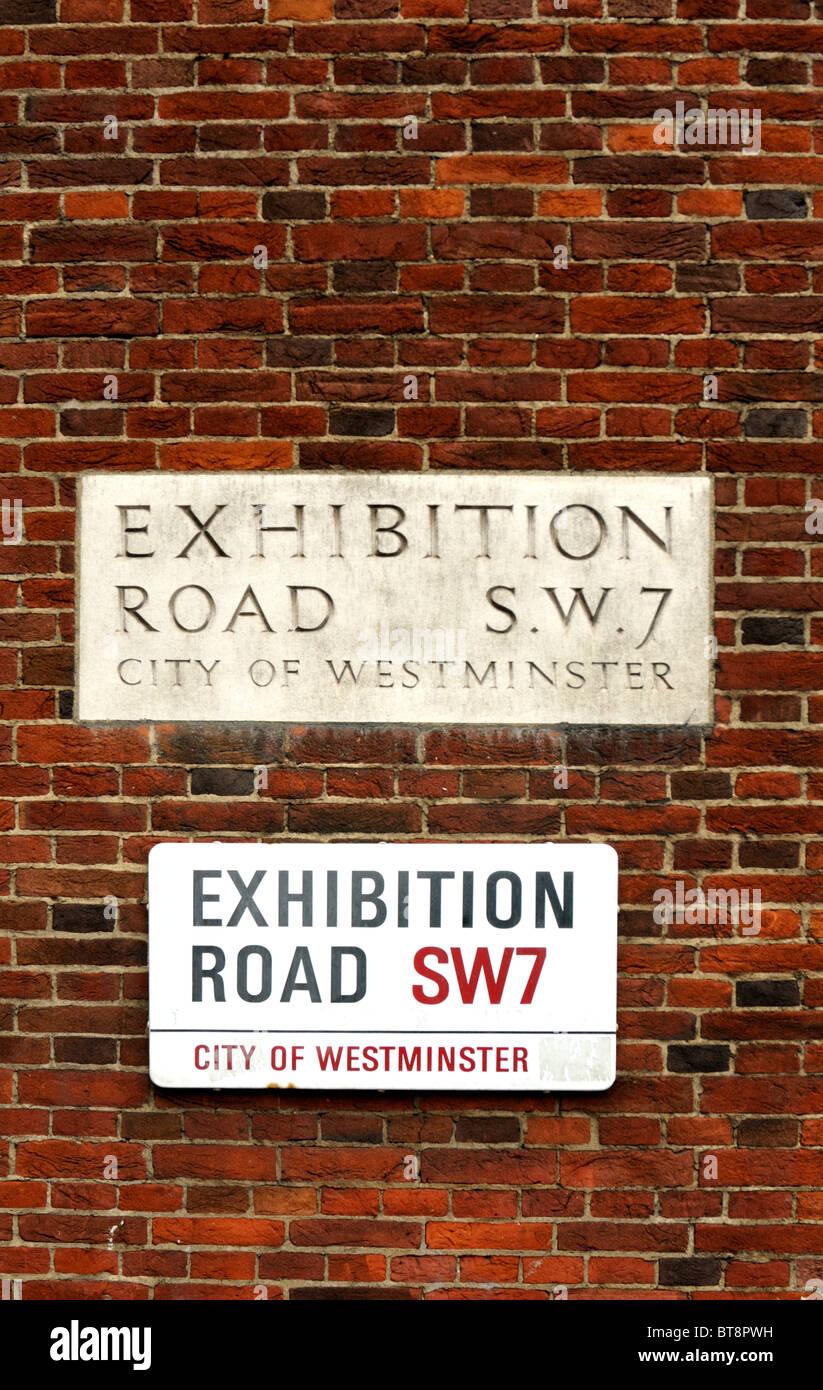 Exhibition Road sign, London, UK. - Stock Image