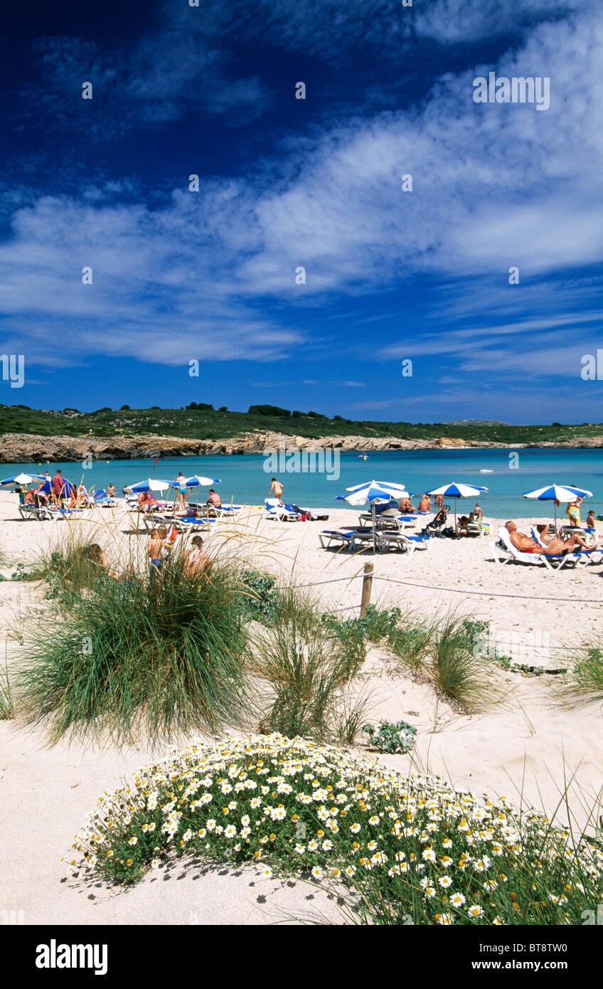 Sand dunes, Arenal de Son Saura, Minorca, Balearic Islands, Spain - Stock Image