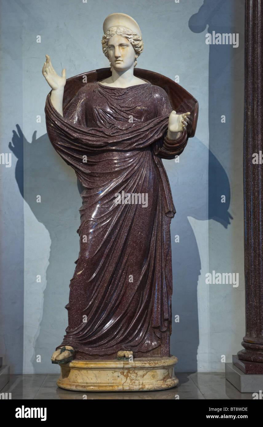 Roman Goddess Statue Louvre Museum Paris - Stock Image