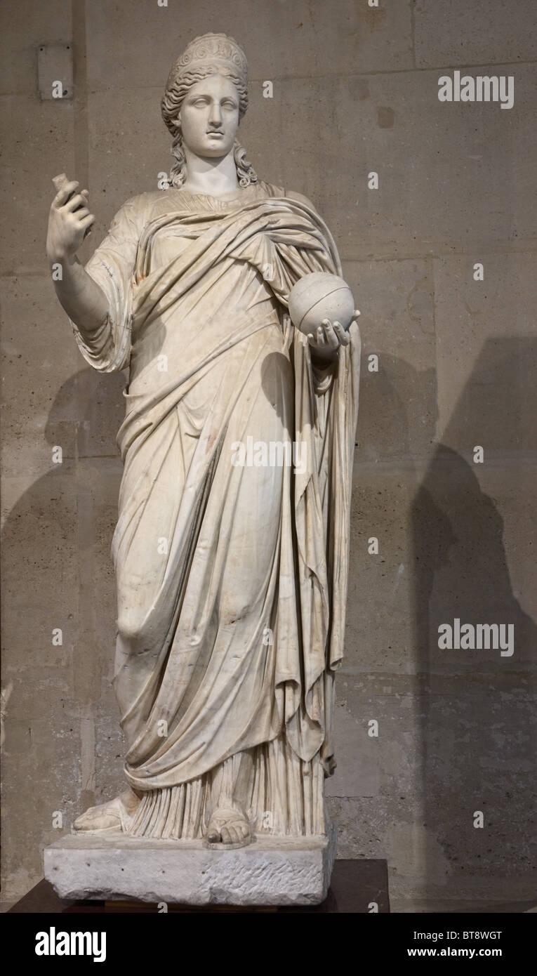Juno Roman Goddess Statue Louvre Museum Paris - Stock Image