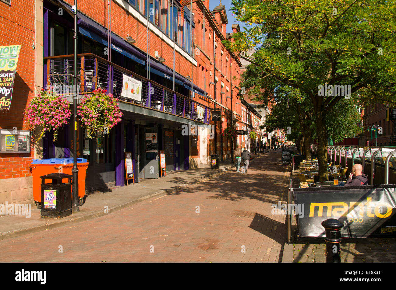 Canal Street, near Manchester city centre.  Manchester, England, UK. - Stock Image