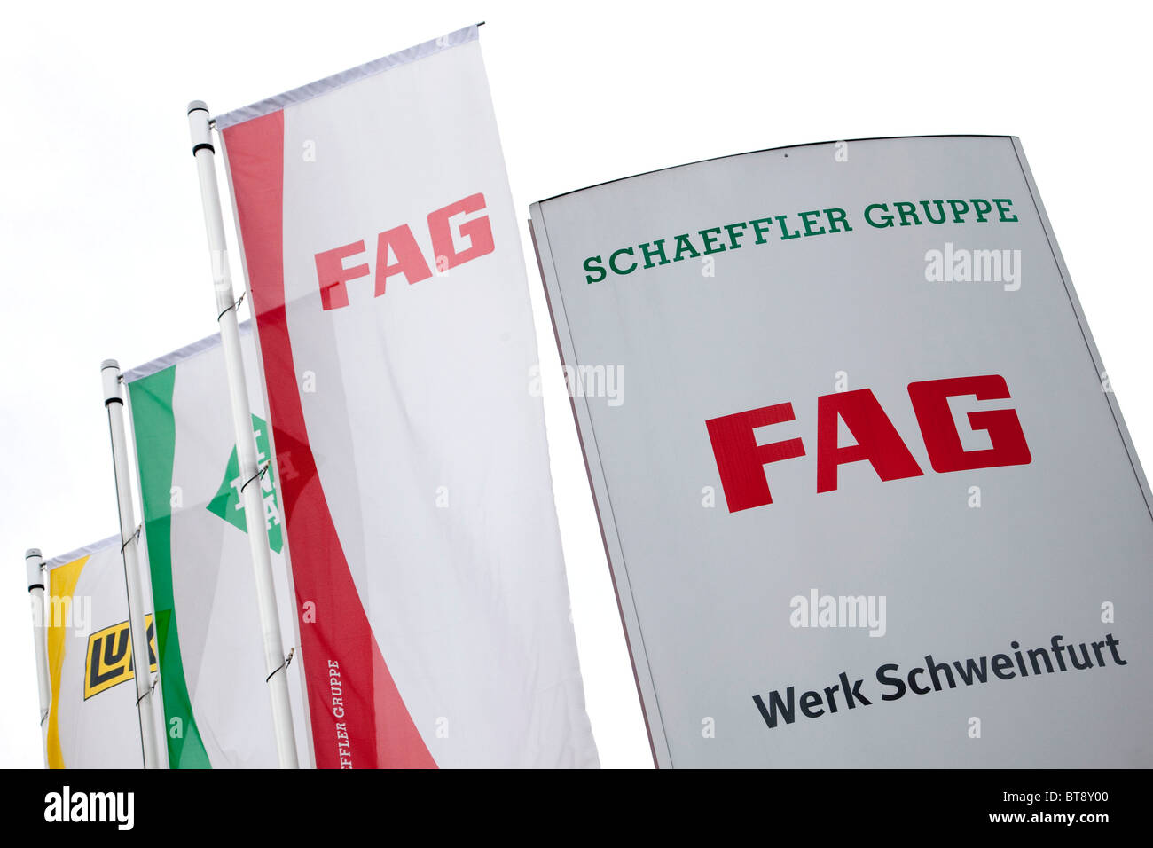 FAG Schaeffler KG, Schweinfurt, Bavaria, Germany, Europe - Stock Image
