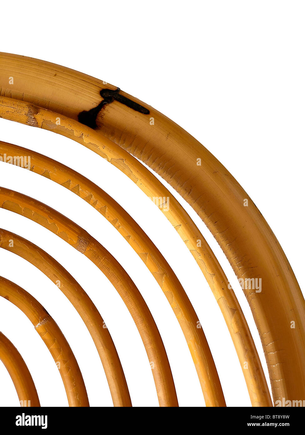 Detail Of An Chair Made Of Bamboo   Stock Image