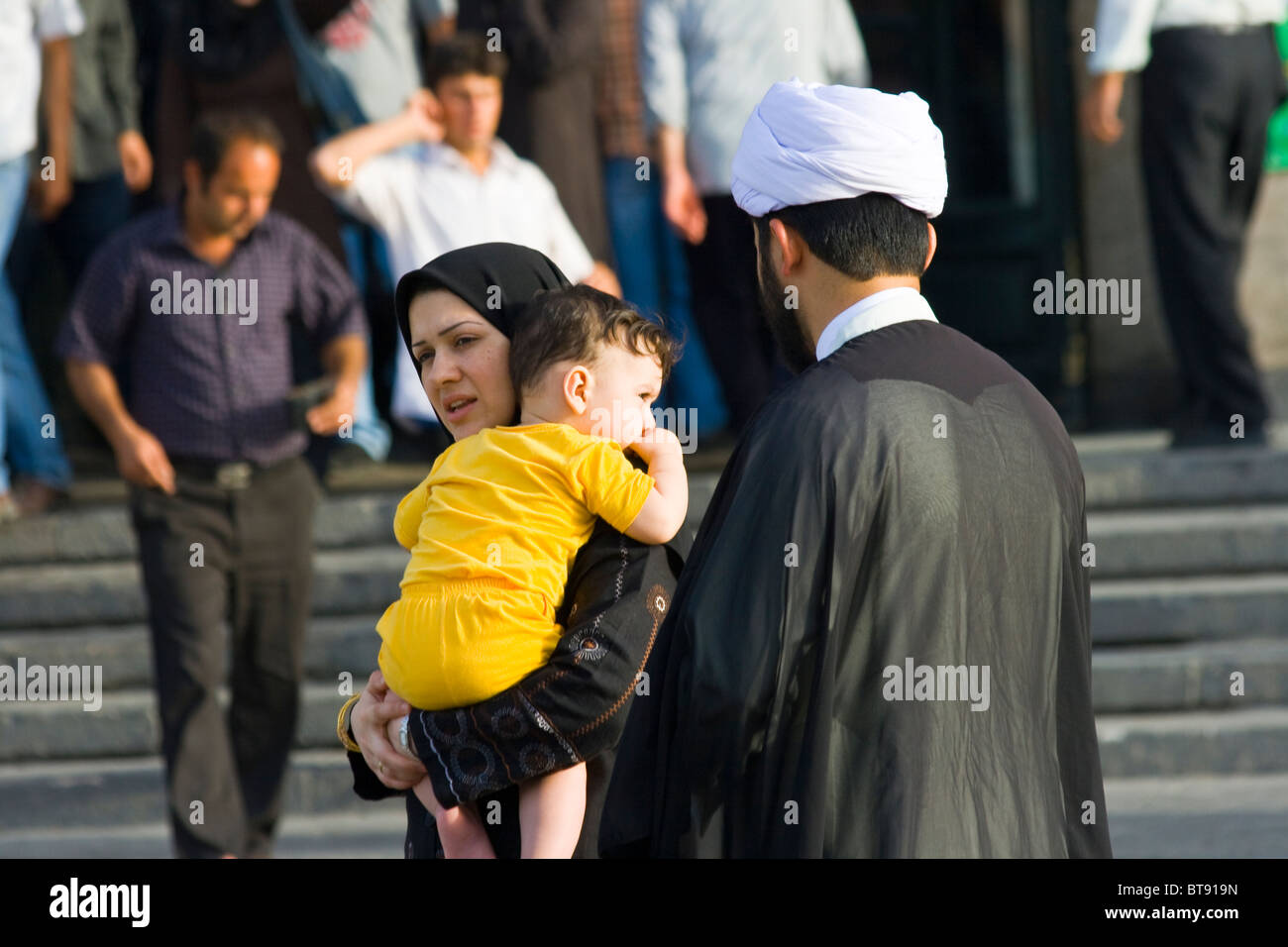 Iranian family in Tehran, Iran - Stock Image