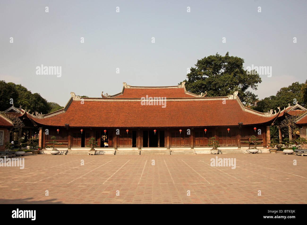 Temple of Literature Van Mieu, Hanoi, Vietnam, Asia - Stock Image
