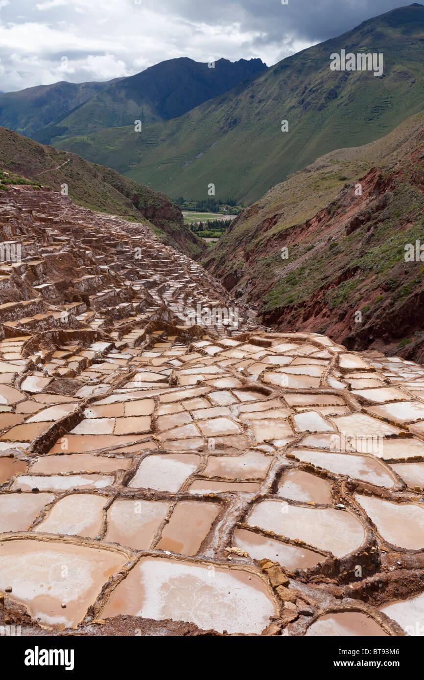 Salt mines of Mara, Peru, South America - Stock Image