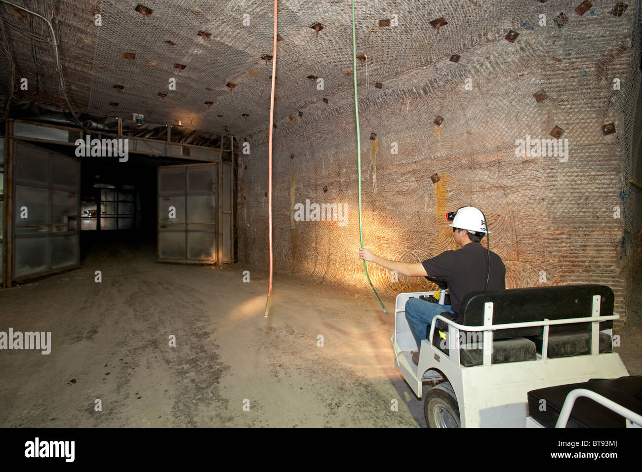 Nuclear Waste Burial at Waste Isolation Pilot Plant - Stock Image