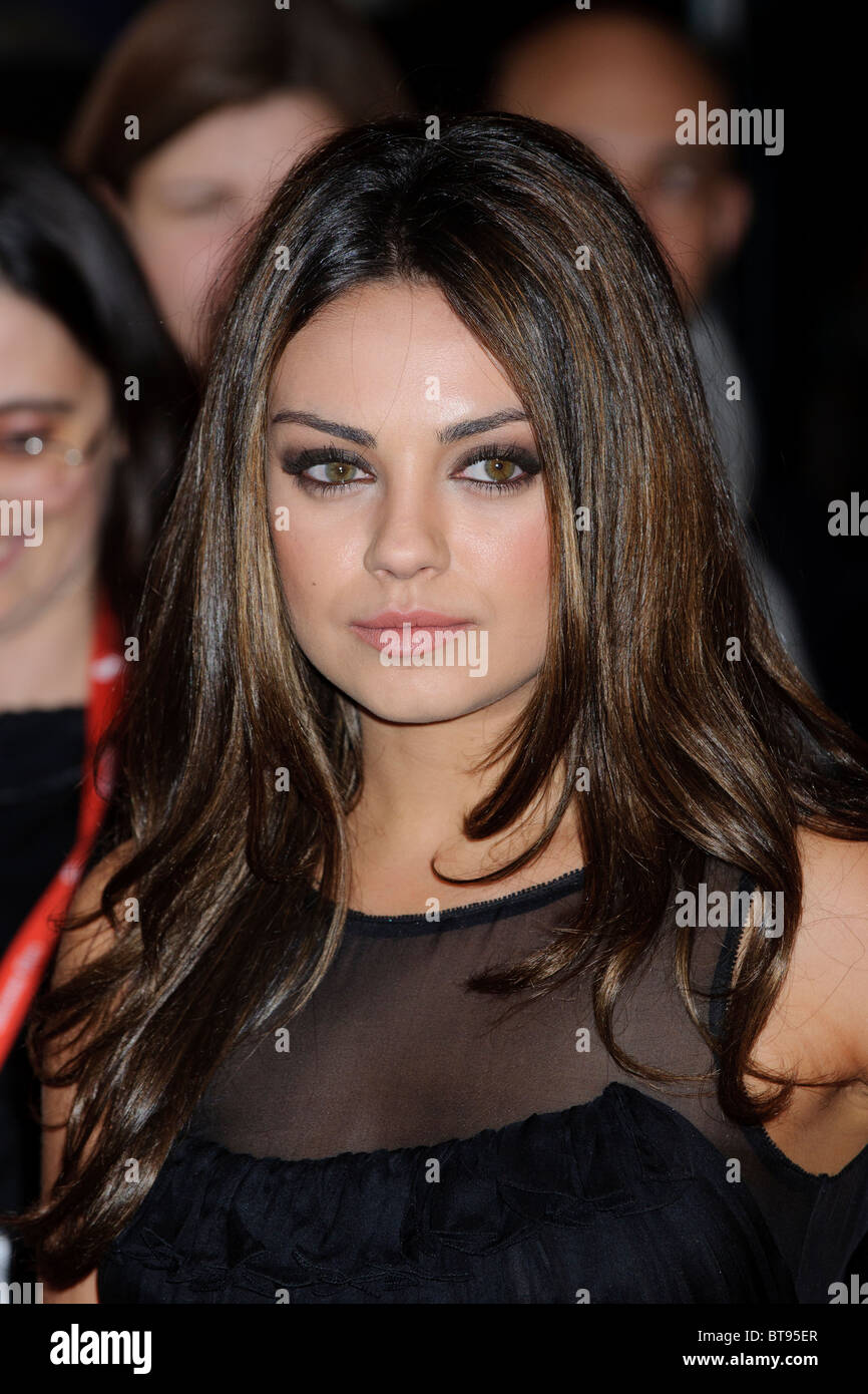 Mila Kunis attends the Black Swan Premiere, VUE, London, 22nd October 2010. Stock Photo