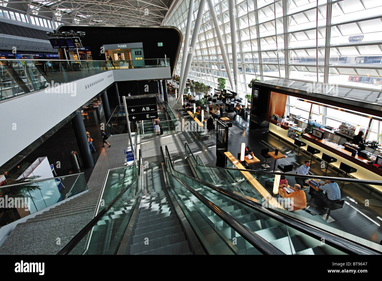 Departure hall of Zurich Airport, Switzerland, Europe - Stock Image