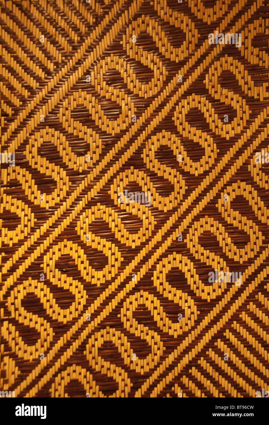 River cane mat from Eastern Band of Cherokee Indians, Cherokee, North Carolina, USA Stock Photo