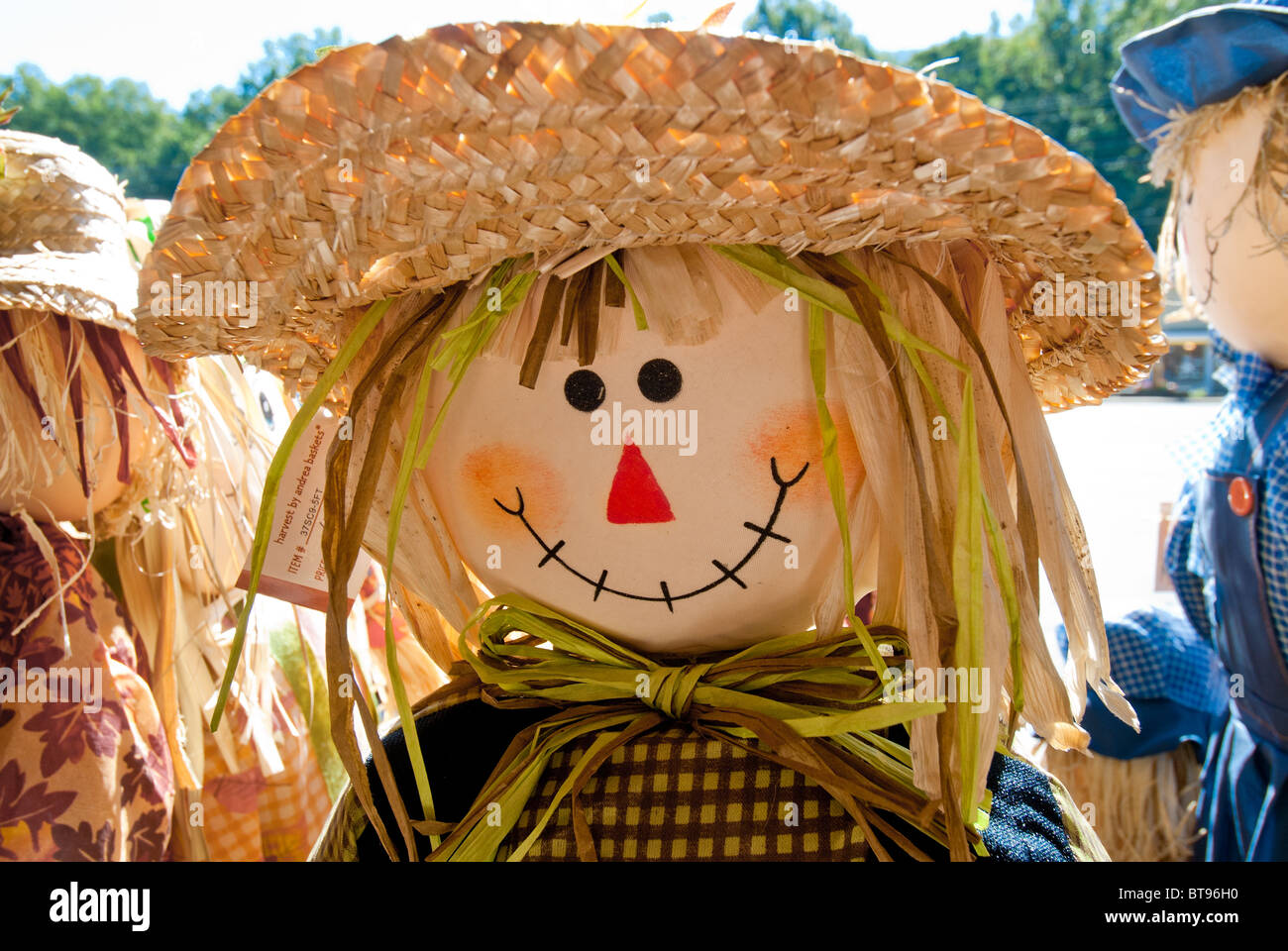Halloween decorations in Maggie Valley, North Carolina, USA - Stock Image