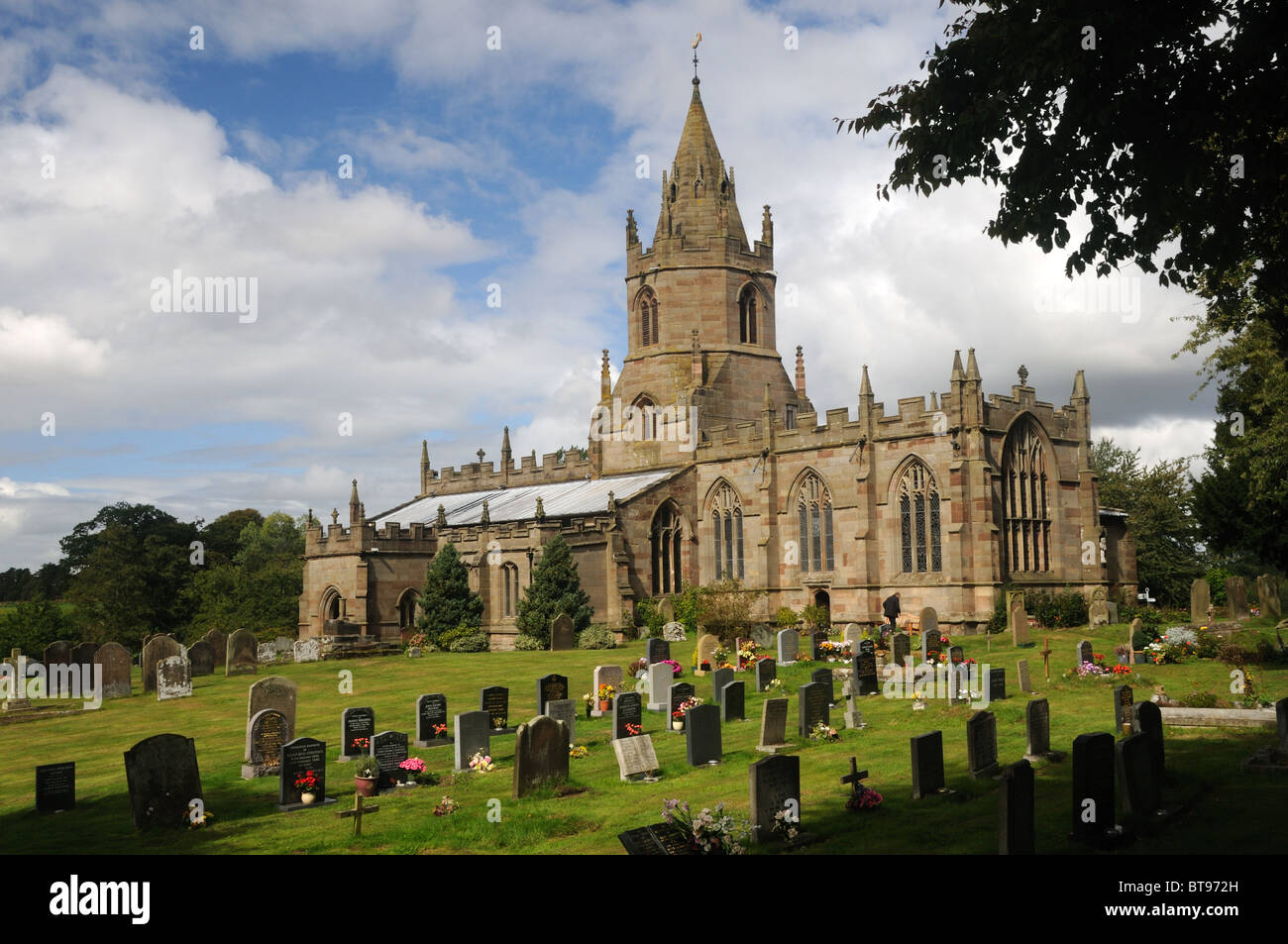 The Collegiate Church of St. Bartholomew, in Tong, Shropshire, England - Stock Image
