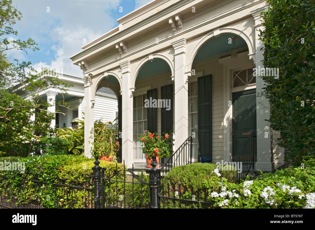 Louisiana, New Orleans, Garden District, Seven Sisters Houses Stock ...