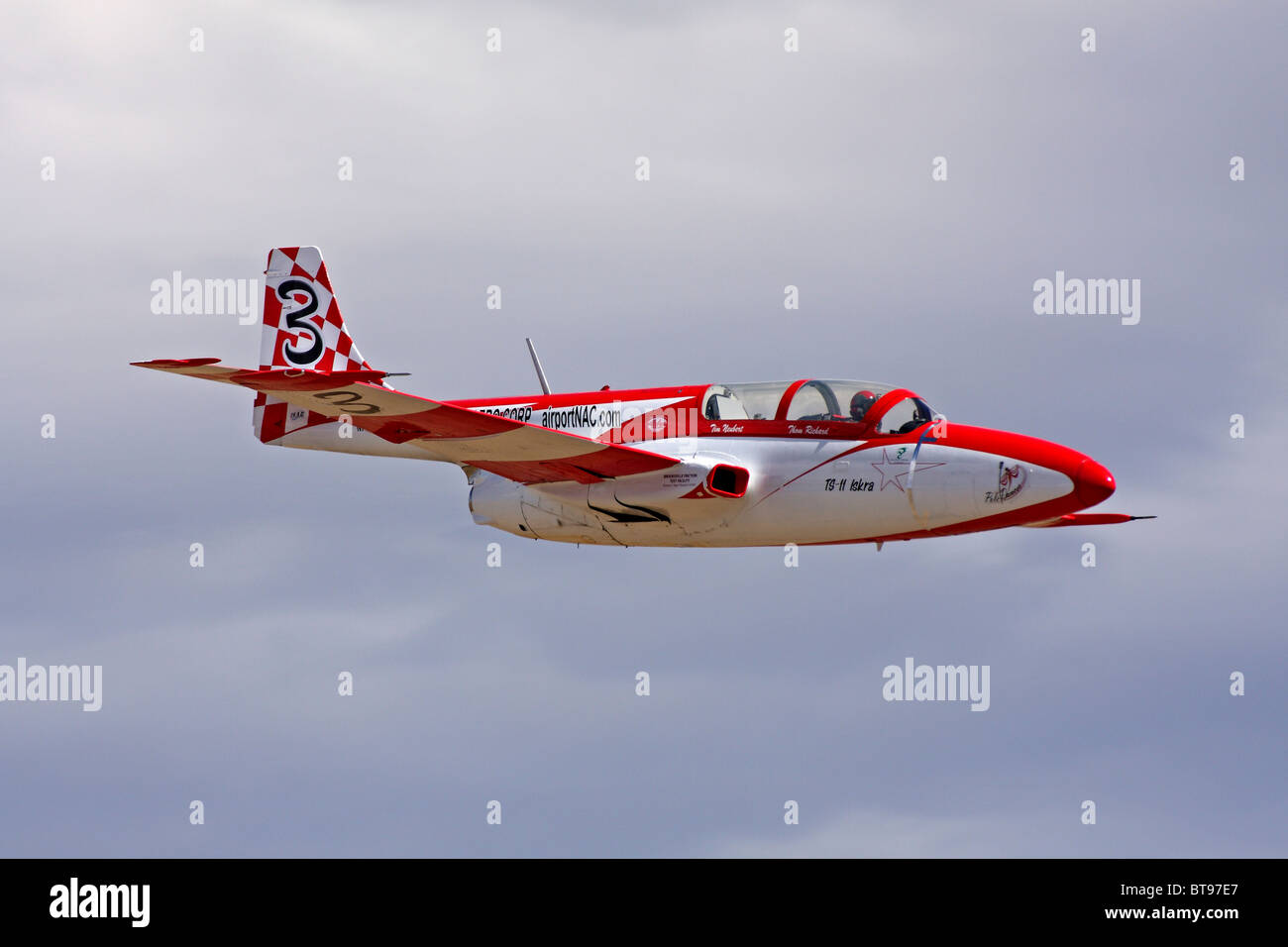 Polish designed and built TS-11 Iskra during a race at the 2010 National Championship Air Races at Stead Field in - Stock Image