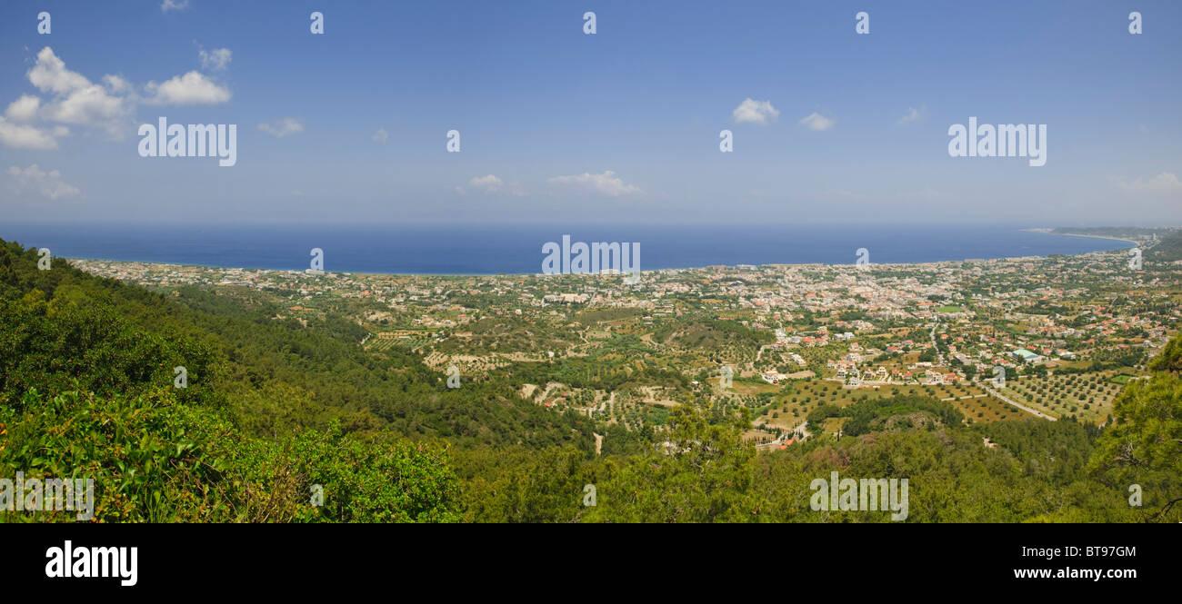 Views of the coast near Kremasti, Filerimos, Rhodes, Greece, Europe - Stock Image