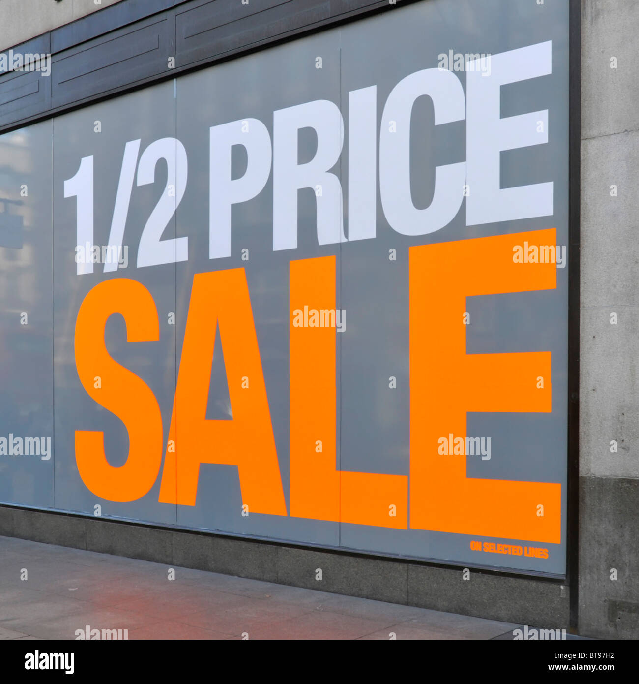 large windows for sale stained glass church large shop window poster promoting half price sale store name digitally removed stock