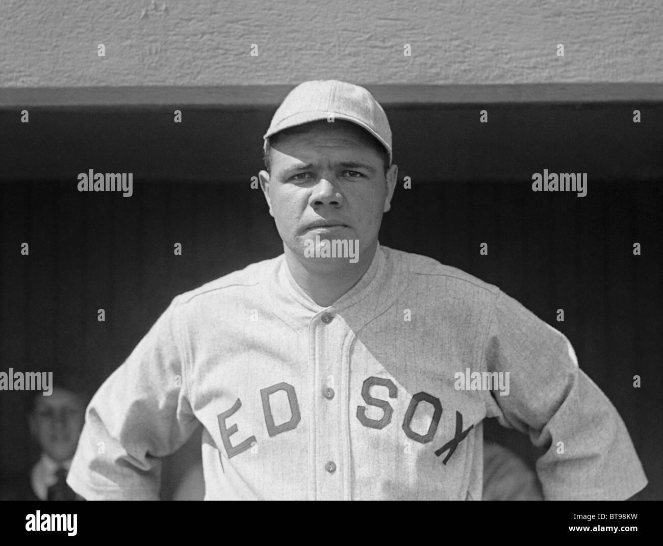 861683a66ba Vintage photo circa 1919 of baseball legend Babe Ruth (George Herman Ruth  Jr) in