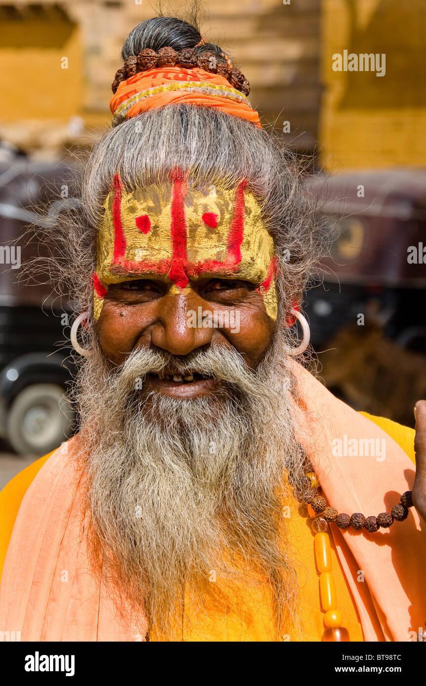 Holy Man, Jaisalmer, India - Stock Image