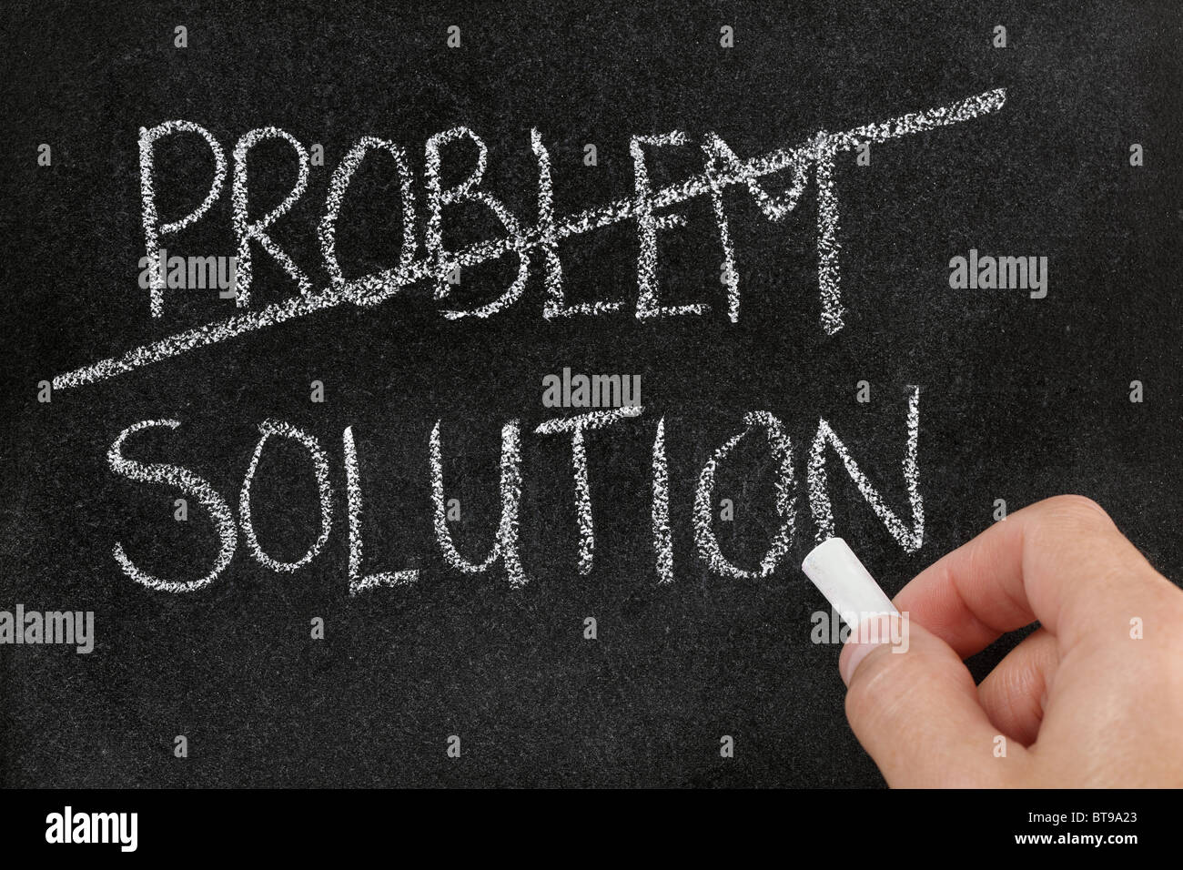 Finding the solution to a problem - Stock Image