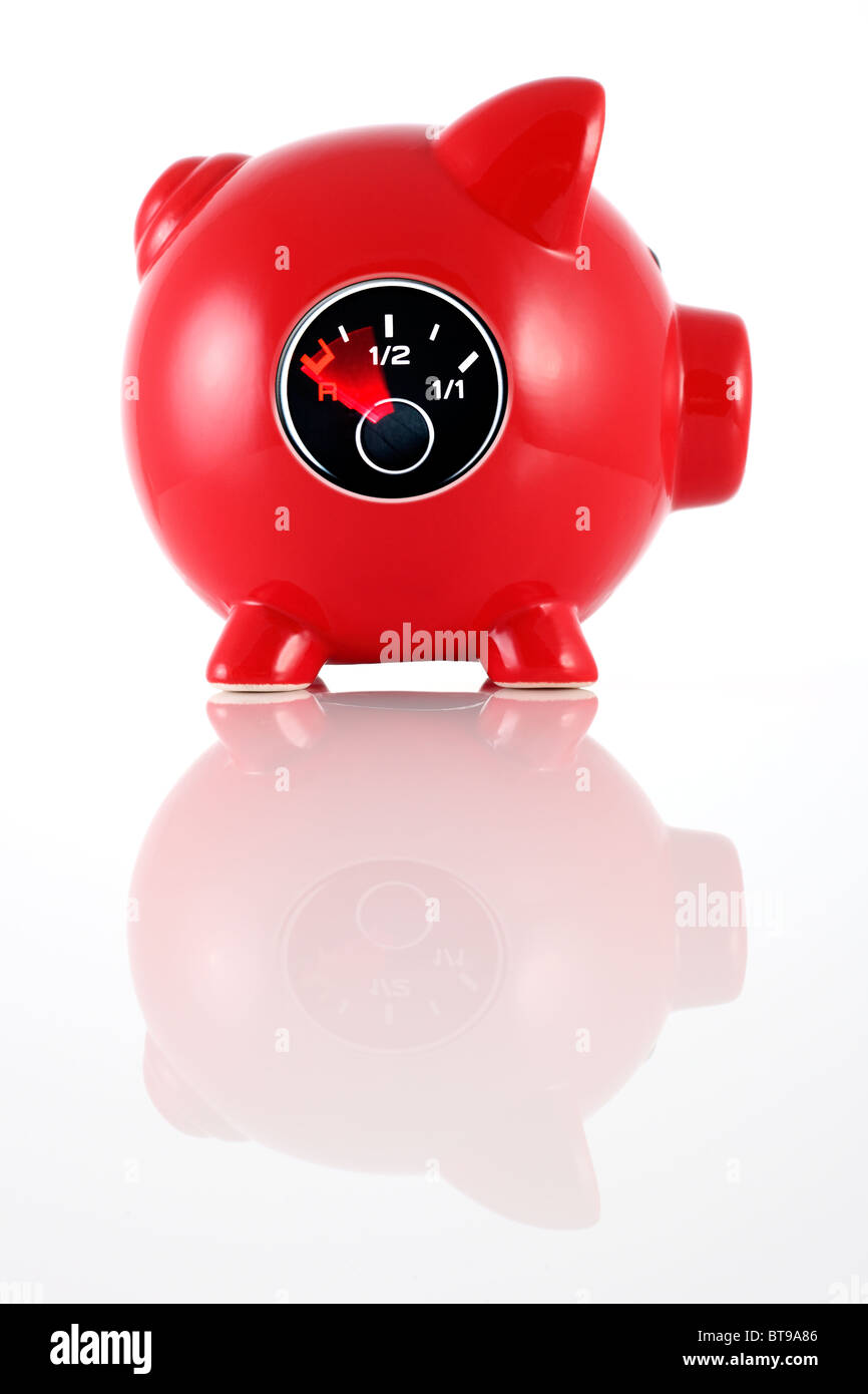 Empty bank account - Stock Image