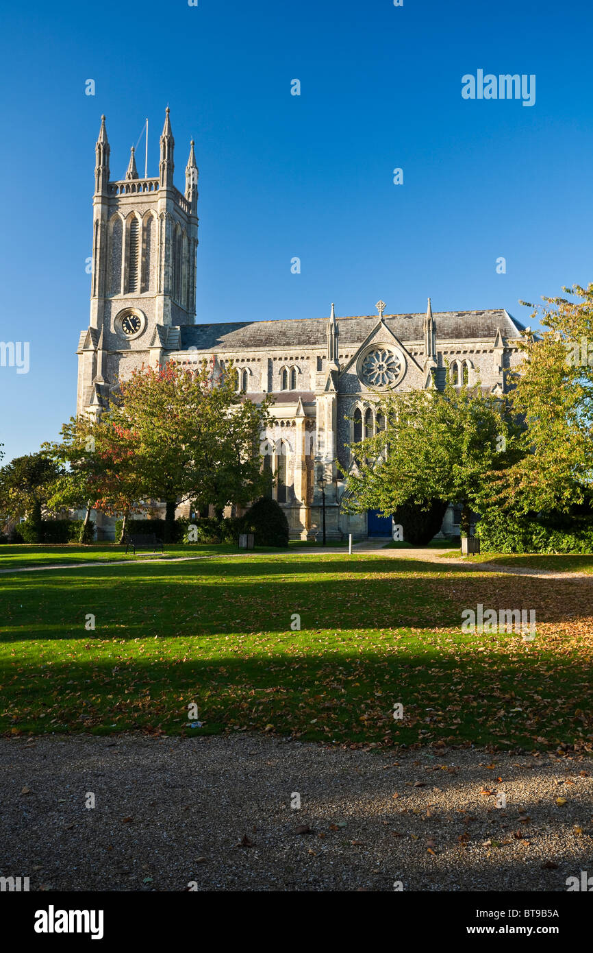 Church of St Mary in Andover Hampshire - Stock Image