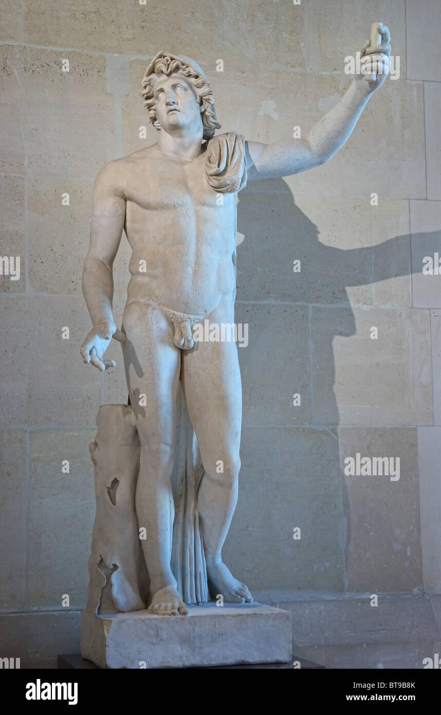 Alexander the Great Statue Louvre Museum Paris - Stock Image