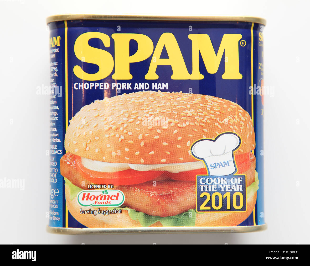 SPAM (Specially Produced American Meat). - Stock Image